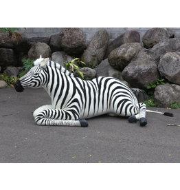 Hansa Grote Knuffel Zebra, liggend, Hansa