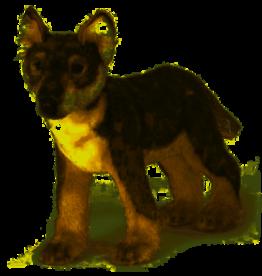 Hansa Staande Wolf Welp 42 cm, Hansa
