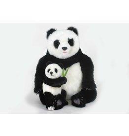 Hansa Knuffel Panda met baby, Hansa