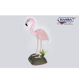Hansa Grote knuffel Flamingo met rots, Hansa