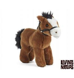 Living Nature Knuffel Paard met teugel, Living Nature
