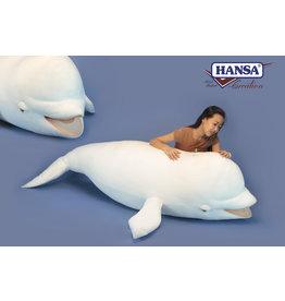 Hansa Pluche Witte Dolfijn Beloega