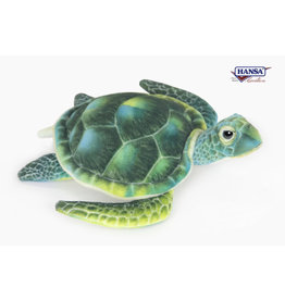 Hansa Pluche Groene Schildpad