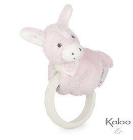 Kaloo Les Amis Kaloo Les Amis Baby - Ezel met bijtring roze