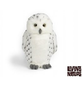 Living Nature Pluche Sneeuwuil groot