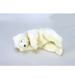 Hansa Pluche witte beer slapend, slapende ijsbeer