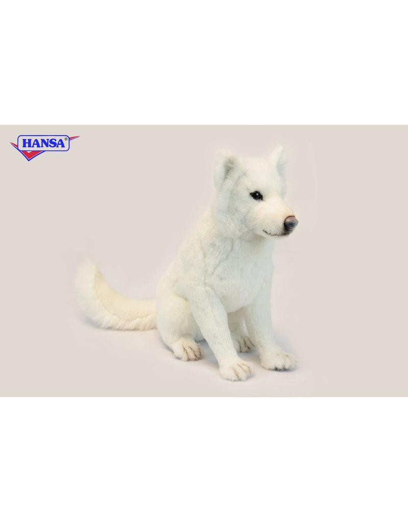 Hansa Hokkaido hond zittend