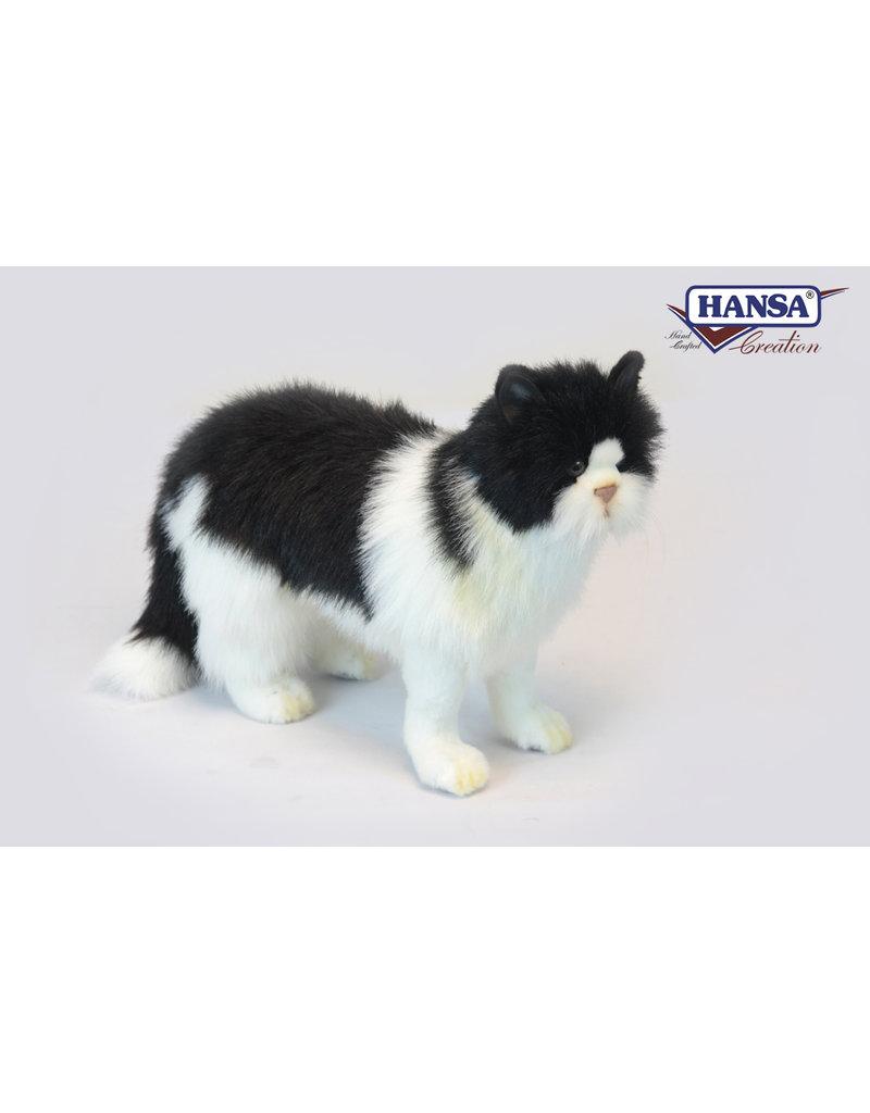 Hansa Pluche Kat Zwart Wit