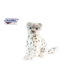 Hansa Pluche Sneeuwpanter zittend