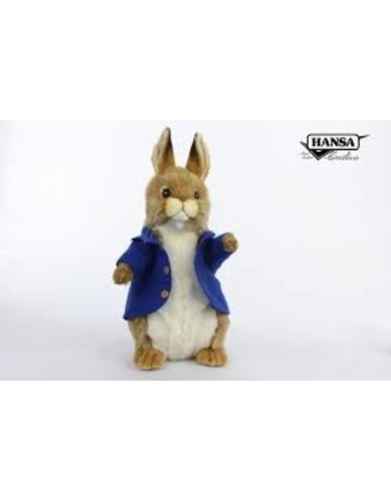 Hansa Konijntje mannetje met blauw jasje, Hansa