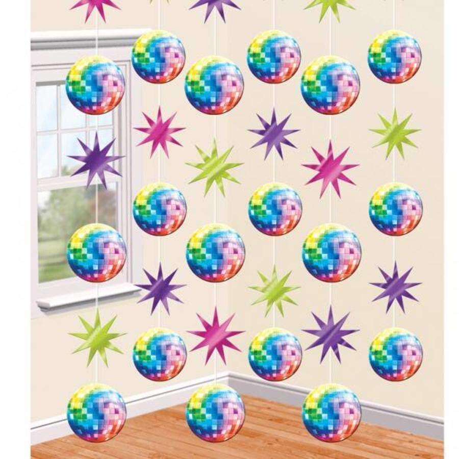 Hangdecoratie Draad Discoballen gekleurd