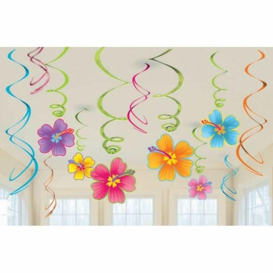 Hangdecoratie Hibiscus swirls