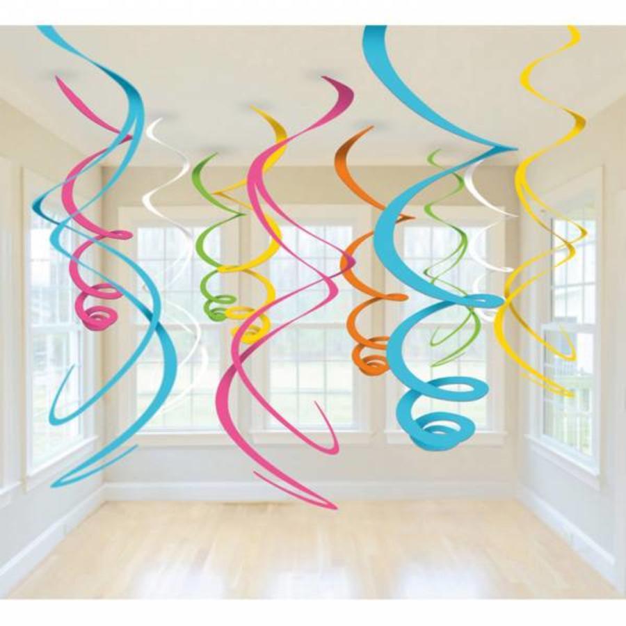 Hangdecoratie Spiraalslingers Neon