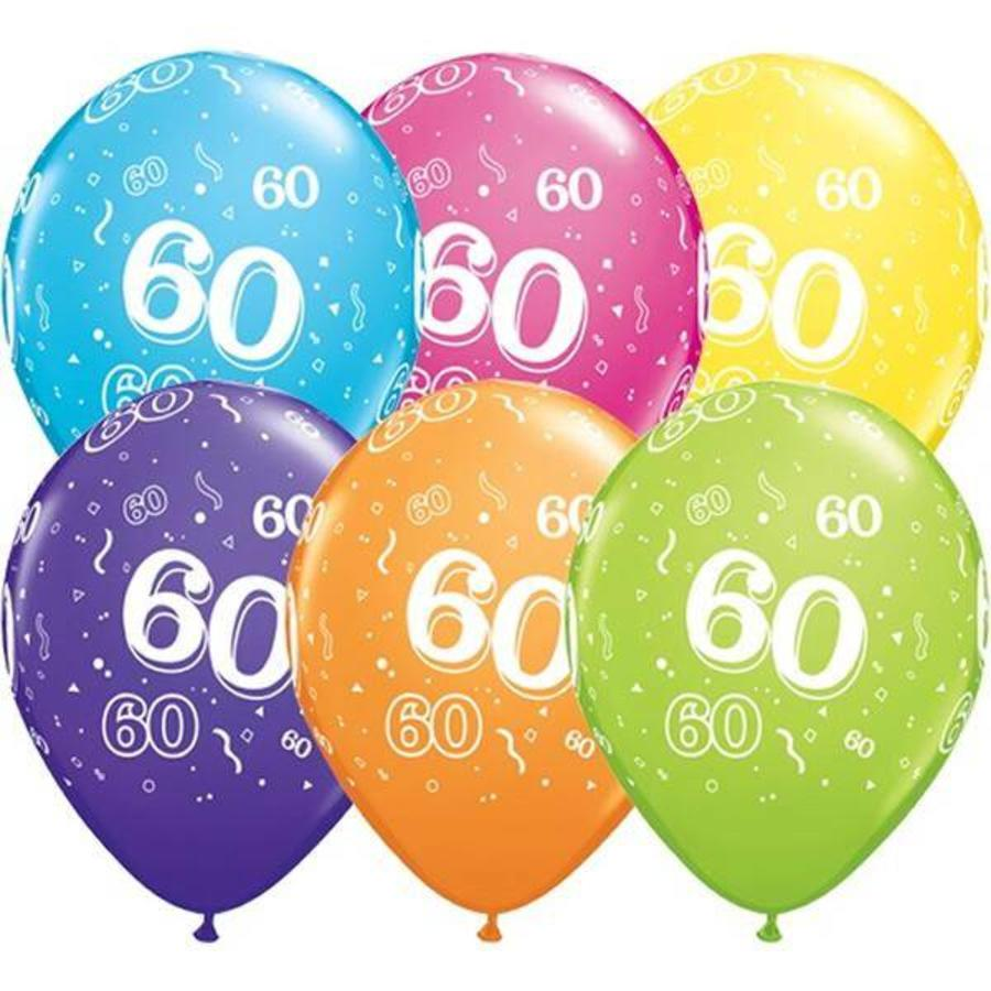 Ballonnen 60 jaar Qualatex 25 stuks
