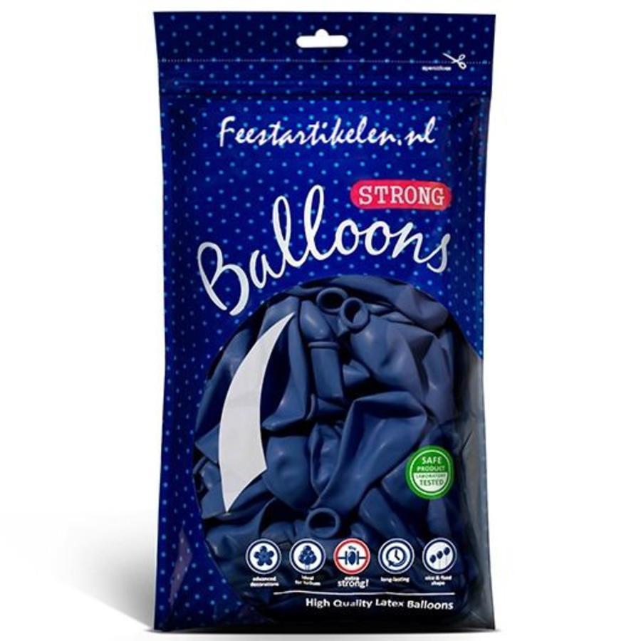 Ballonnen donkerblauw 100 stuks