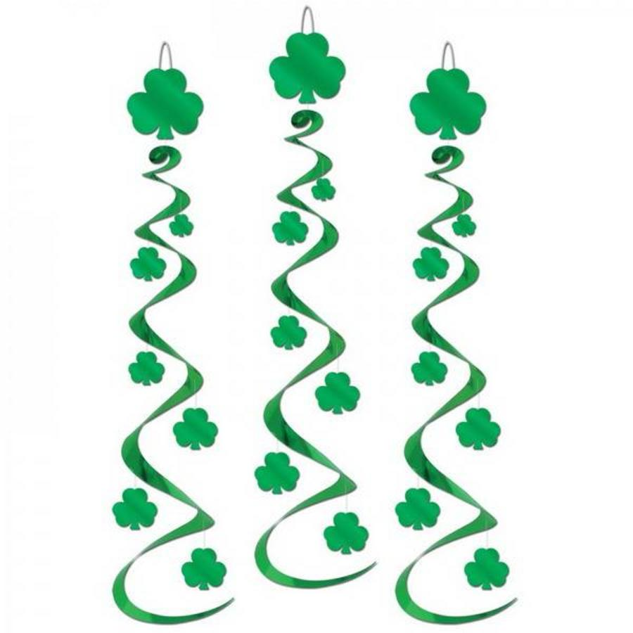 St Patricks Day Shamrock Whirls luxe