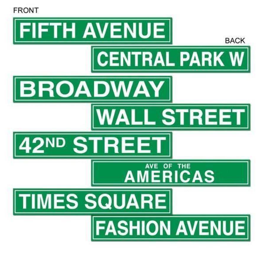 Feestecoraties New York Street Signs