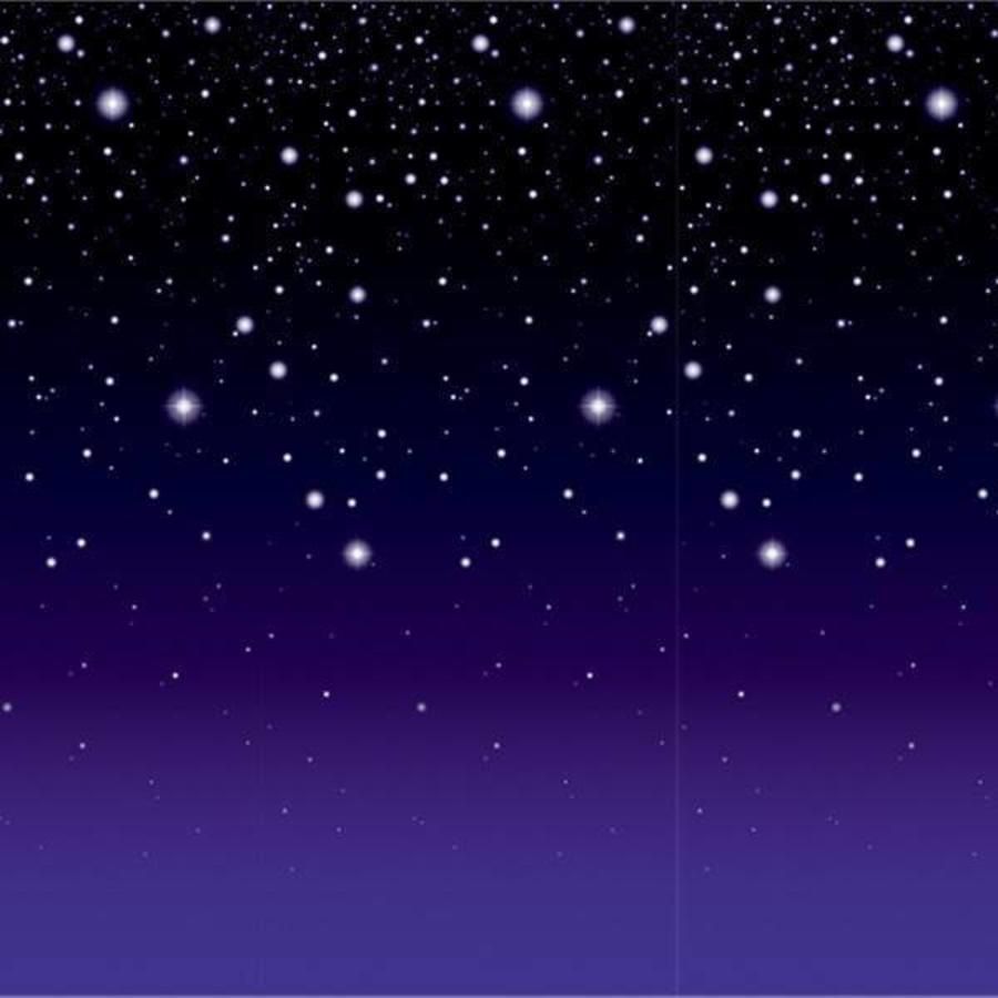 Wanddecoratie Starry Night met paarse gloed