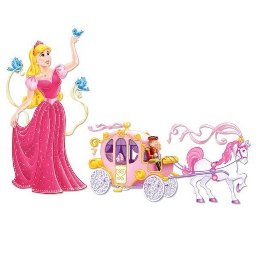 Wanddecoratie Prinses en koets