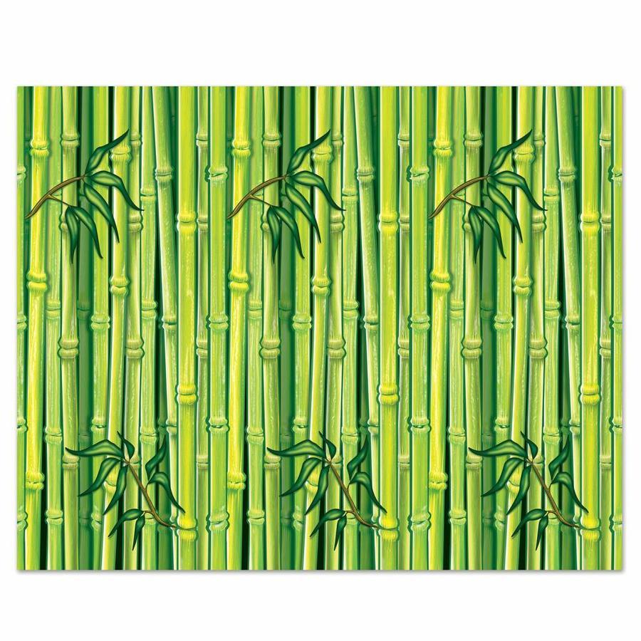Wanddecoratie Jungle Bamboe groen