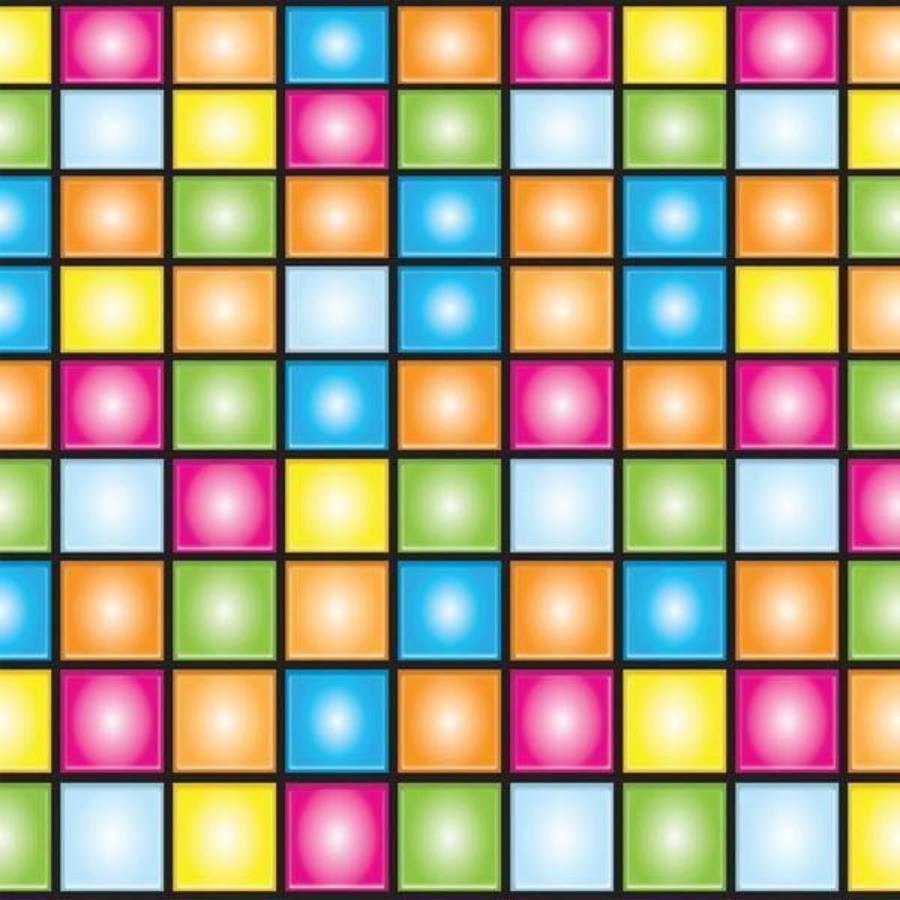 Wanddecoratie Disco Light border