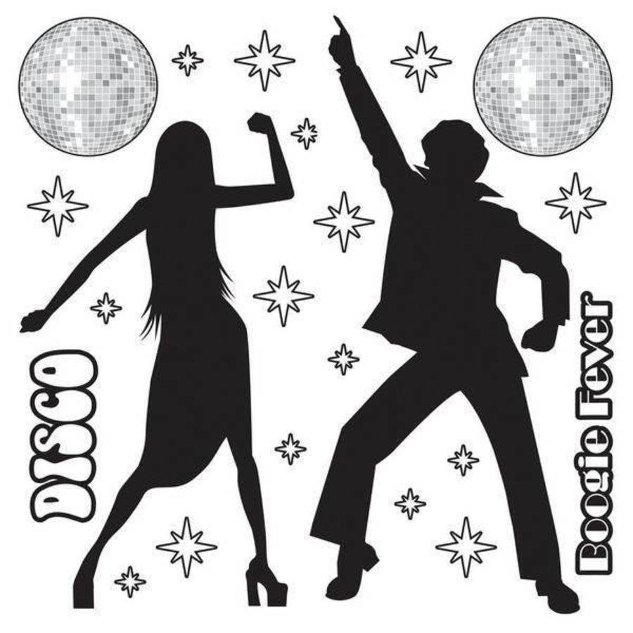 Wanddecoratie Disco Dancers