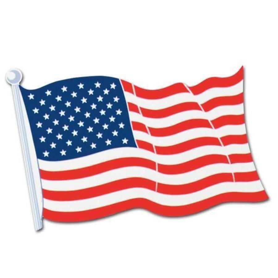 Decoratie USA Vlag karton