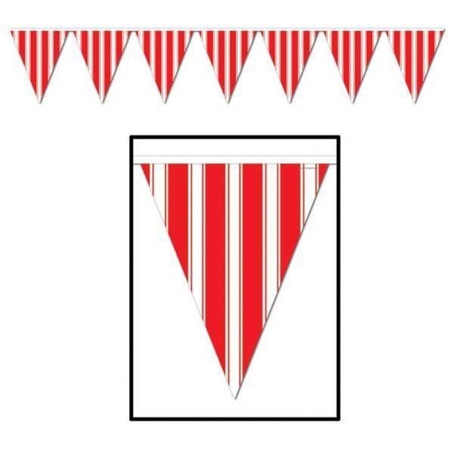 Vlaggenlijn Circus rood-wit