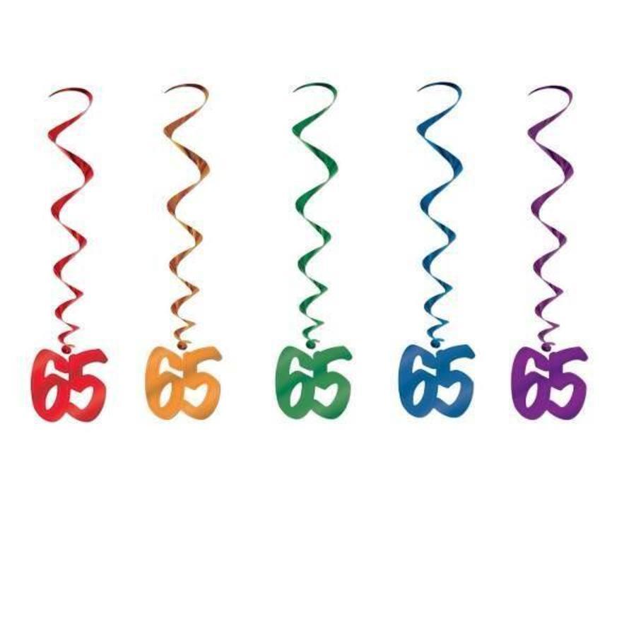 Hangdecoratie Whirls 65 jaar