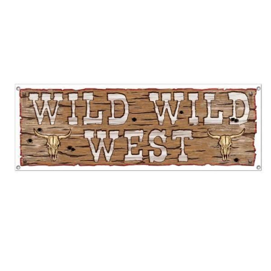 Banner Wild West Sign