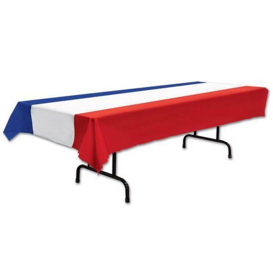 Tafelkleed rood wit blauw