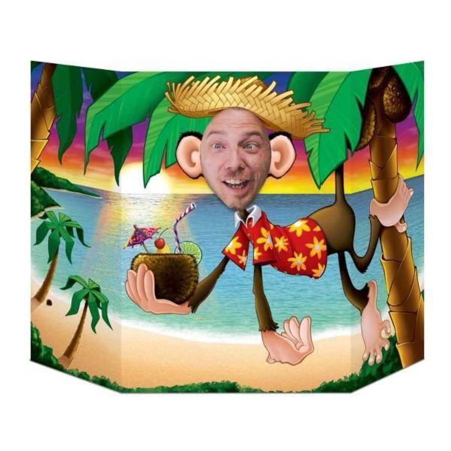 Selfie decor tropische aap Hawaii feest