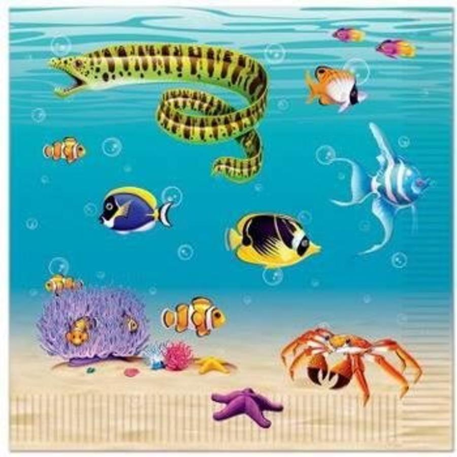 Servetten zeedieren 16 stuks
