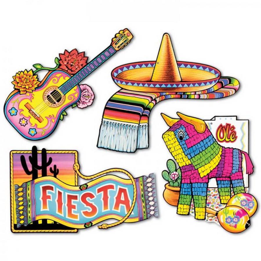 Mexicaanse Decoraties 4 stuks