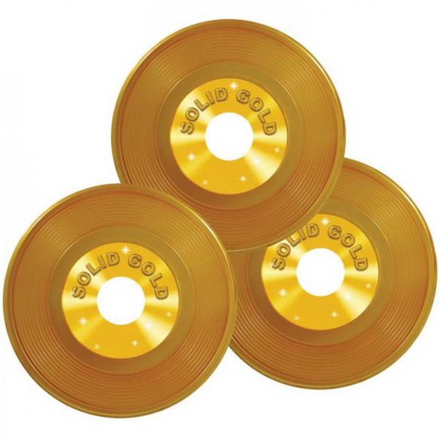Gouden platen 3 stuks