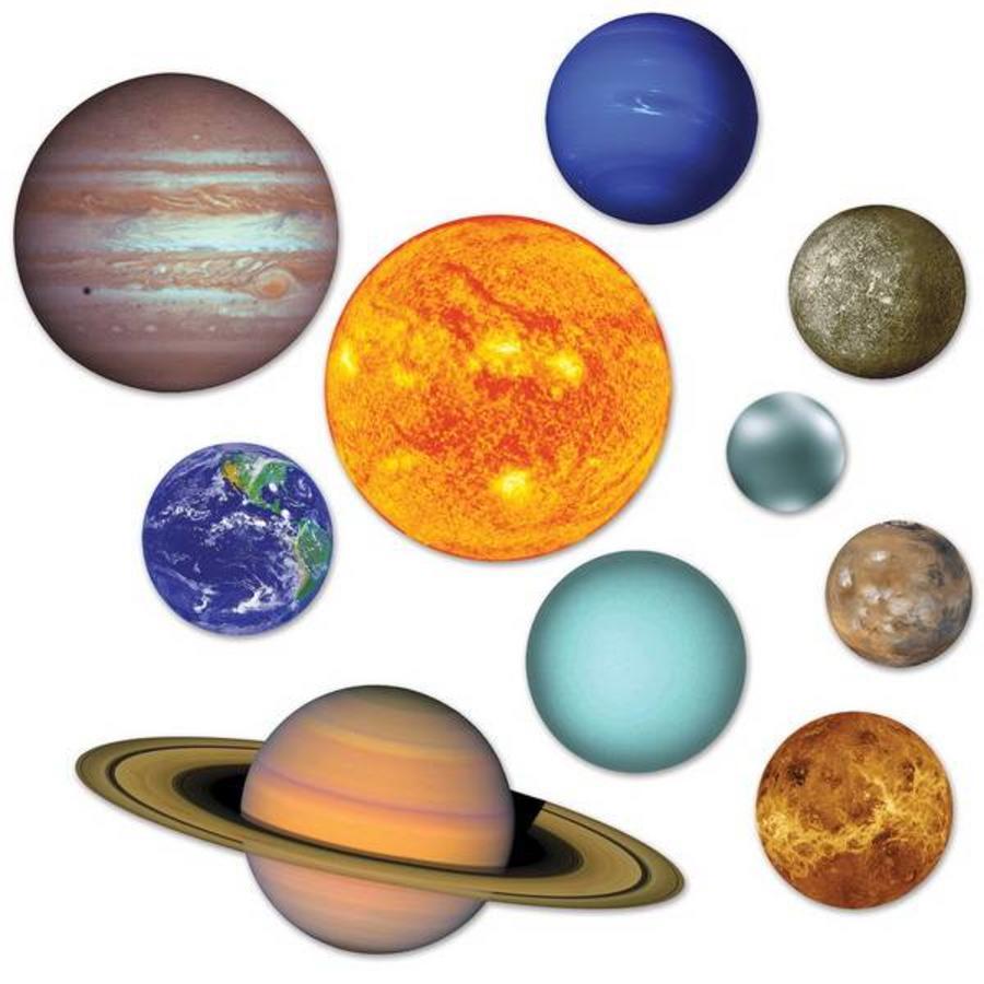 Decoraties planeten 10 stuks