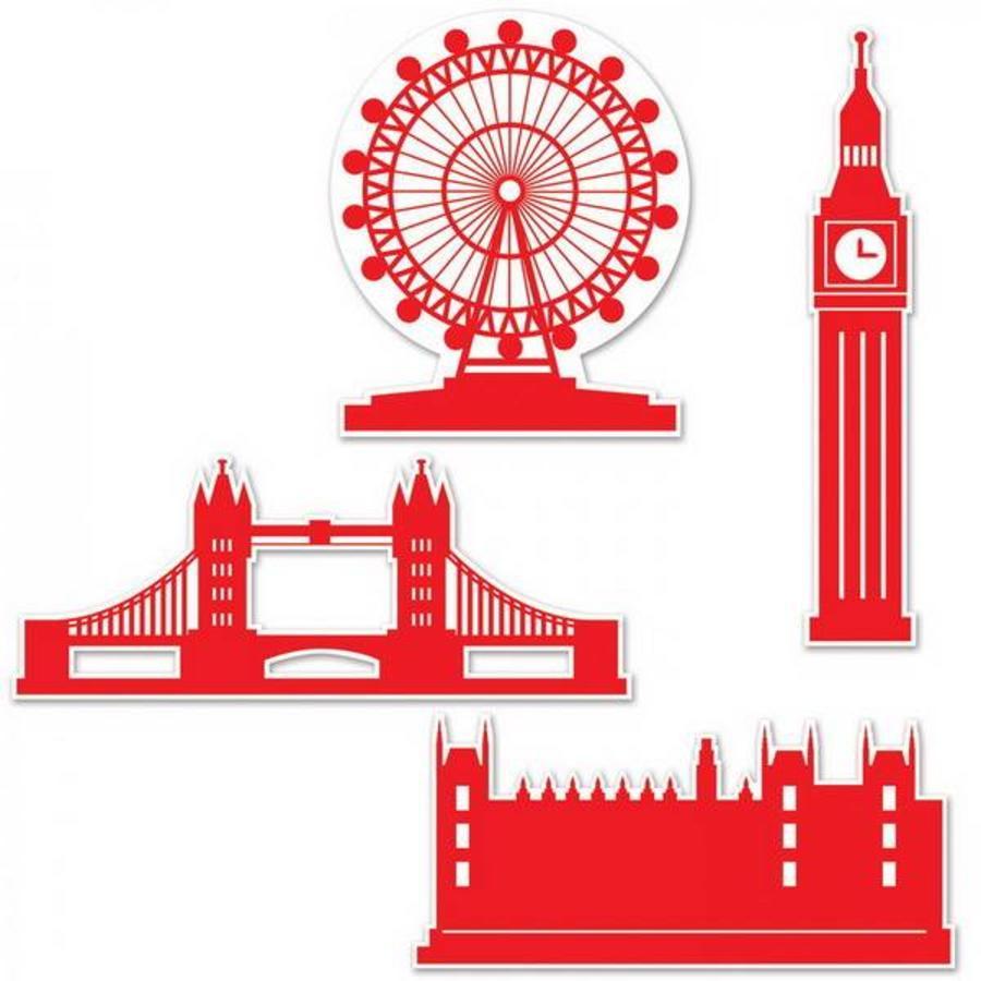 Decoraties London Silhouettes