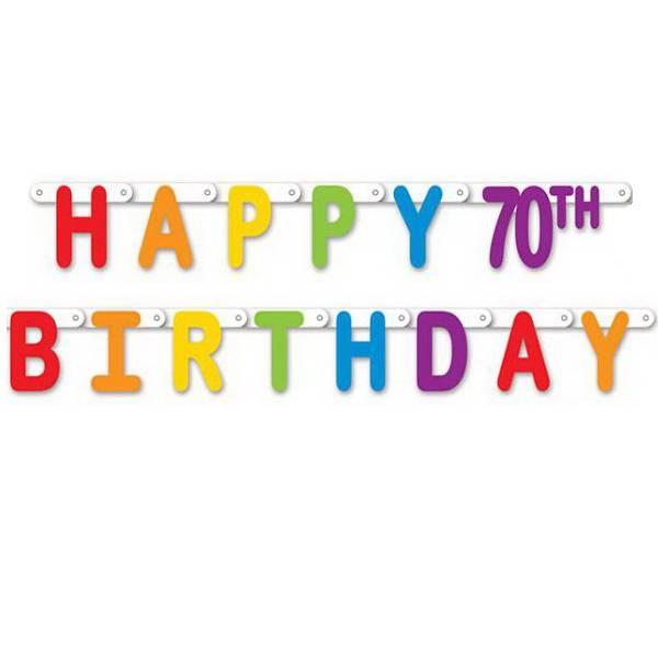 Letterslinger Happy 70 Birthday