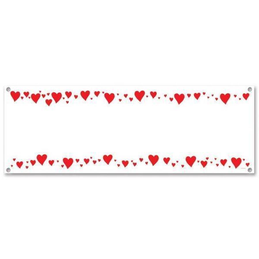 Banner hartjes voor persoonlijke boodschap