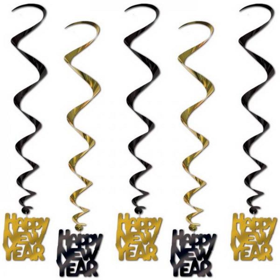 Hangdecoratie Whirls Happy New Year