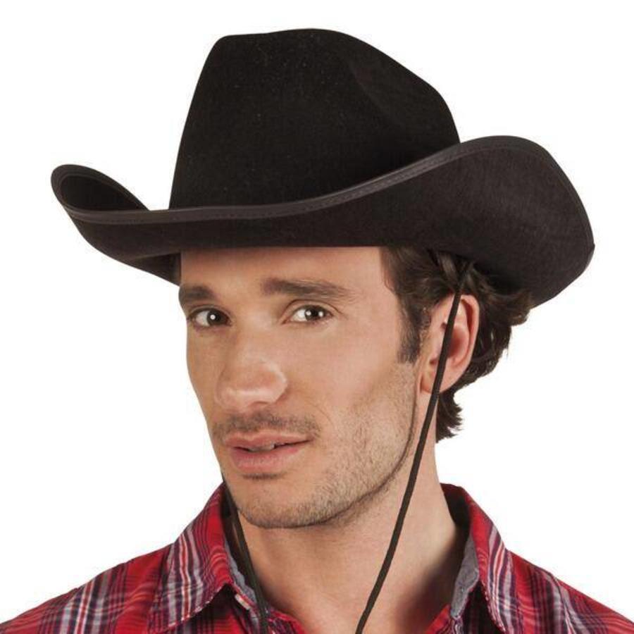 Cowboyhoed Kentucky vilt zwart
