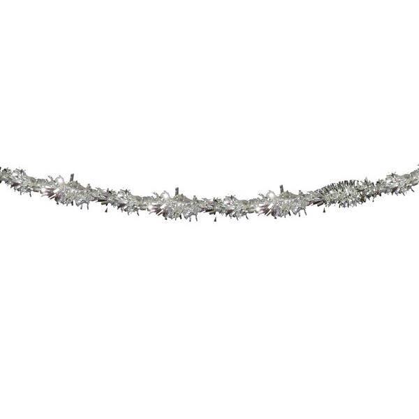 Brandvertragende slinger zilverkleurig folie 4 meter