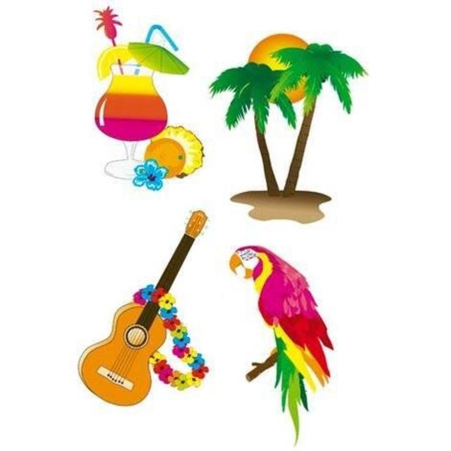 Wanddecoraties tropisch 4 stuks