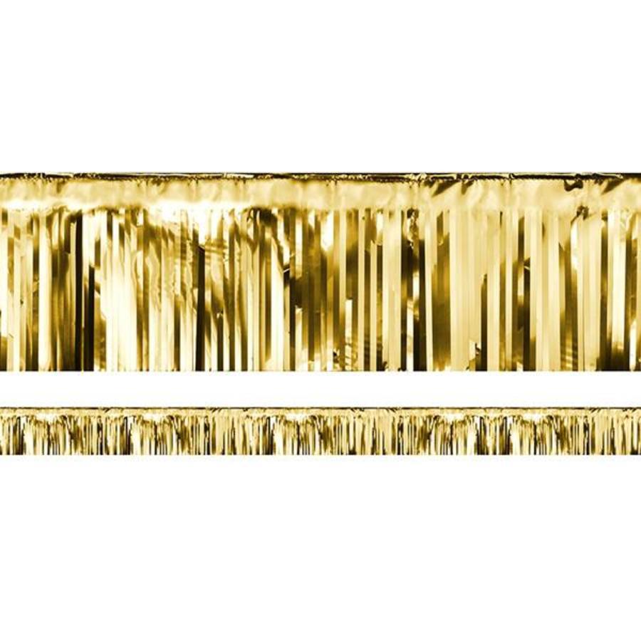 Franjelijn metallic goudkleurig 6 meter