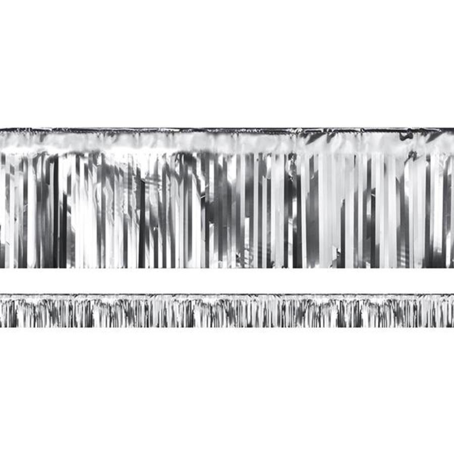 Franjelijn metallic zilverkleurig 6 meter