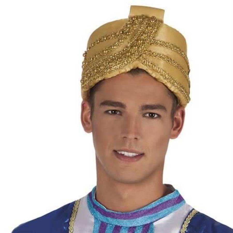 Hoed sultan goudkleurig luxe