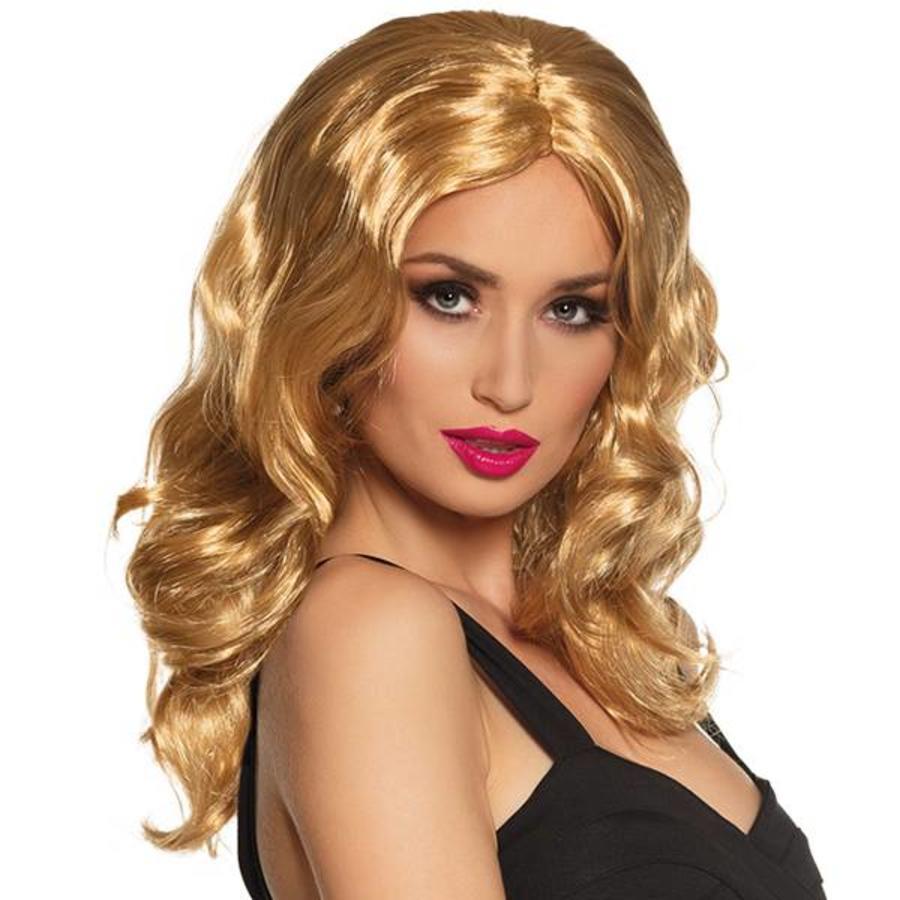 Pruik Glamorous blond
