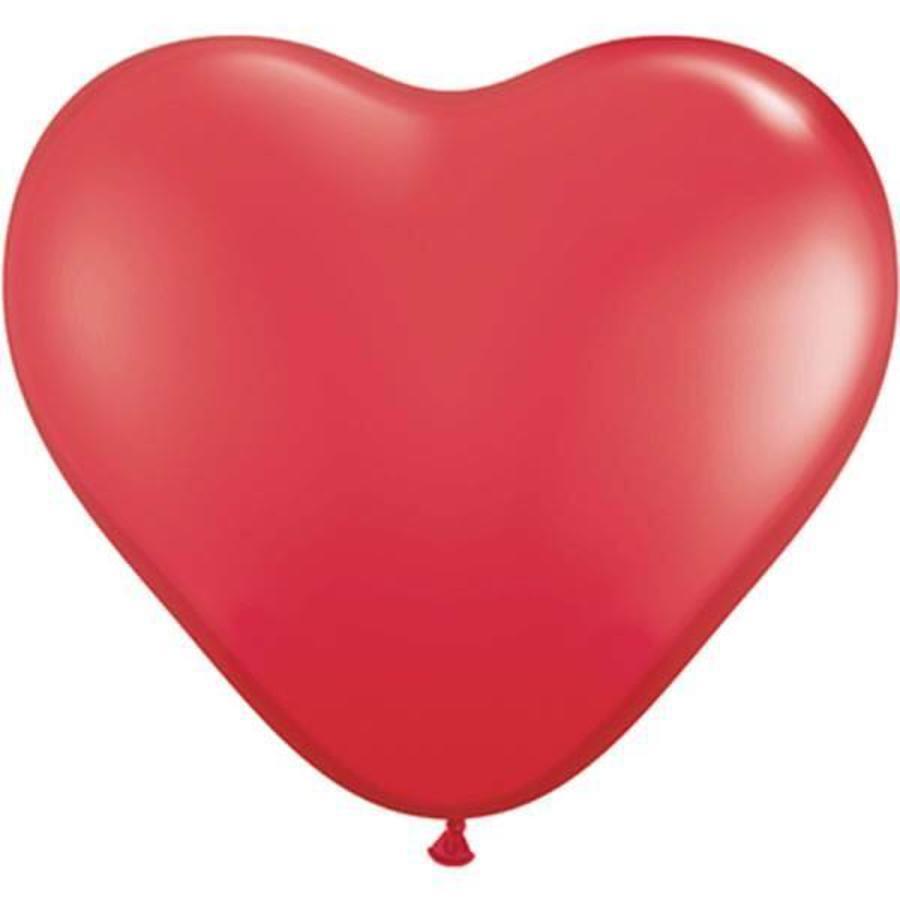 Hart ballonnen rood 8 stuks