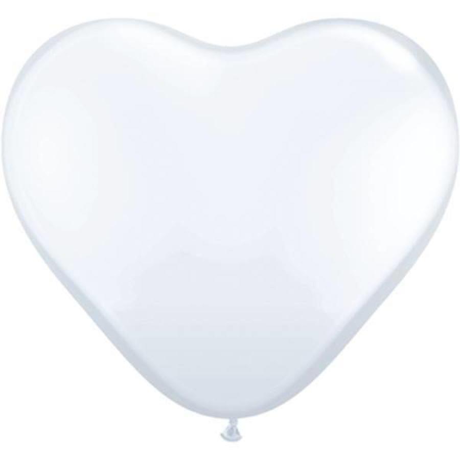 Ballonnen wit hartvormig