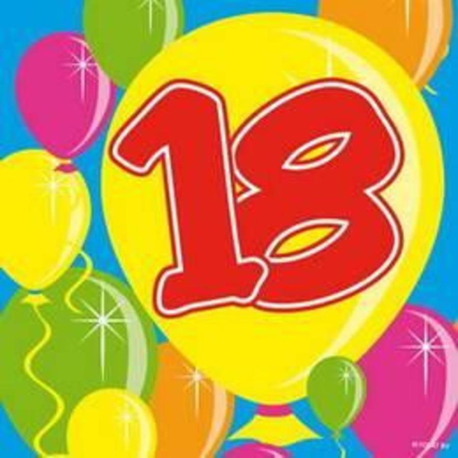 Servetten 18 jaar ballonnen